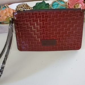 Dooney &Bourke. basket Weaved  wristlet